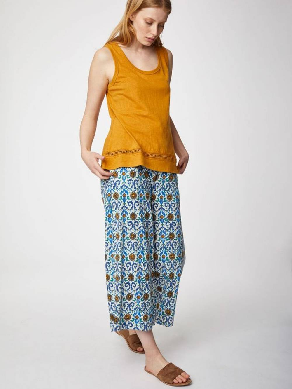 thought affordable sustainable printed trousers