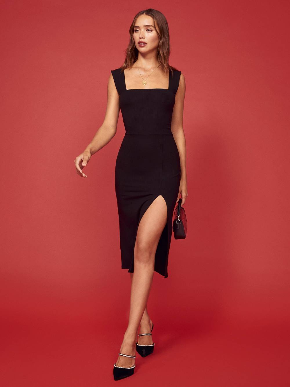 reformation cute christmas party dress