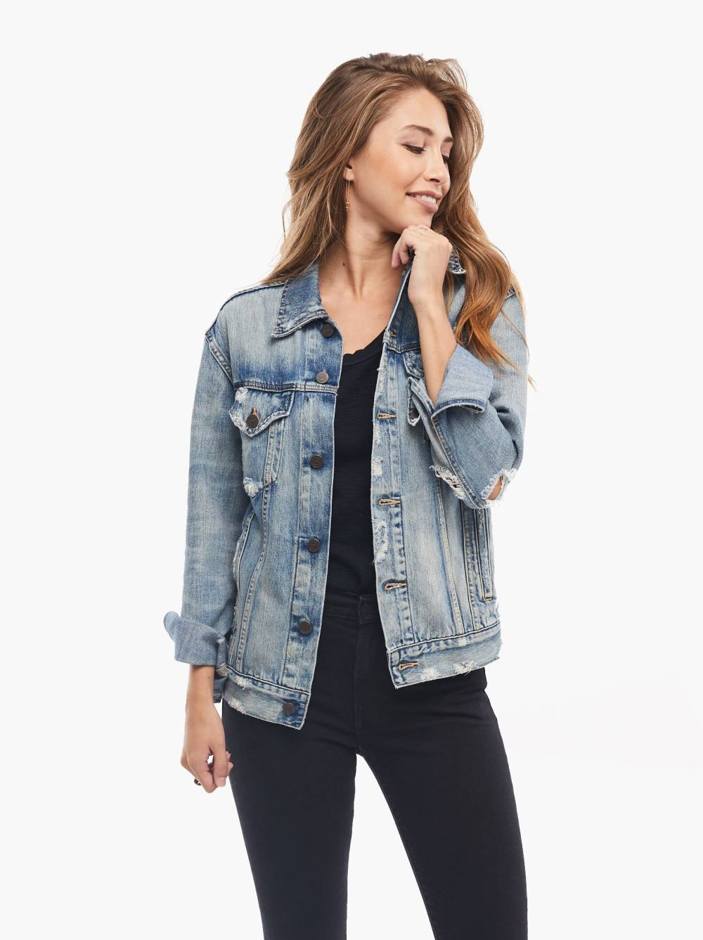 able denim petite hourglass jackets