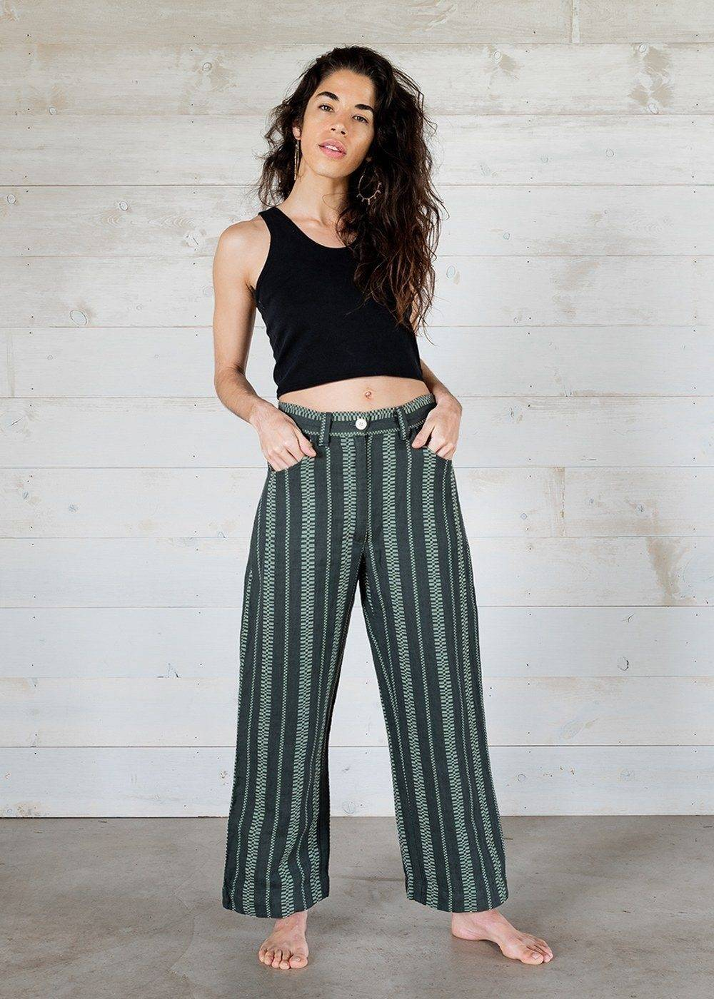petite hourglass figure stripe pants