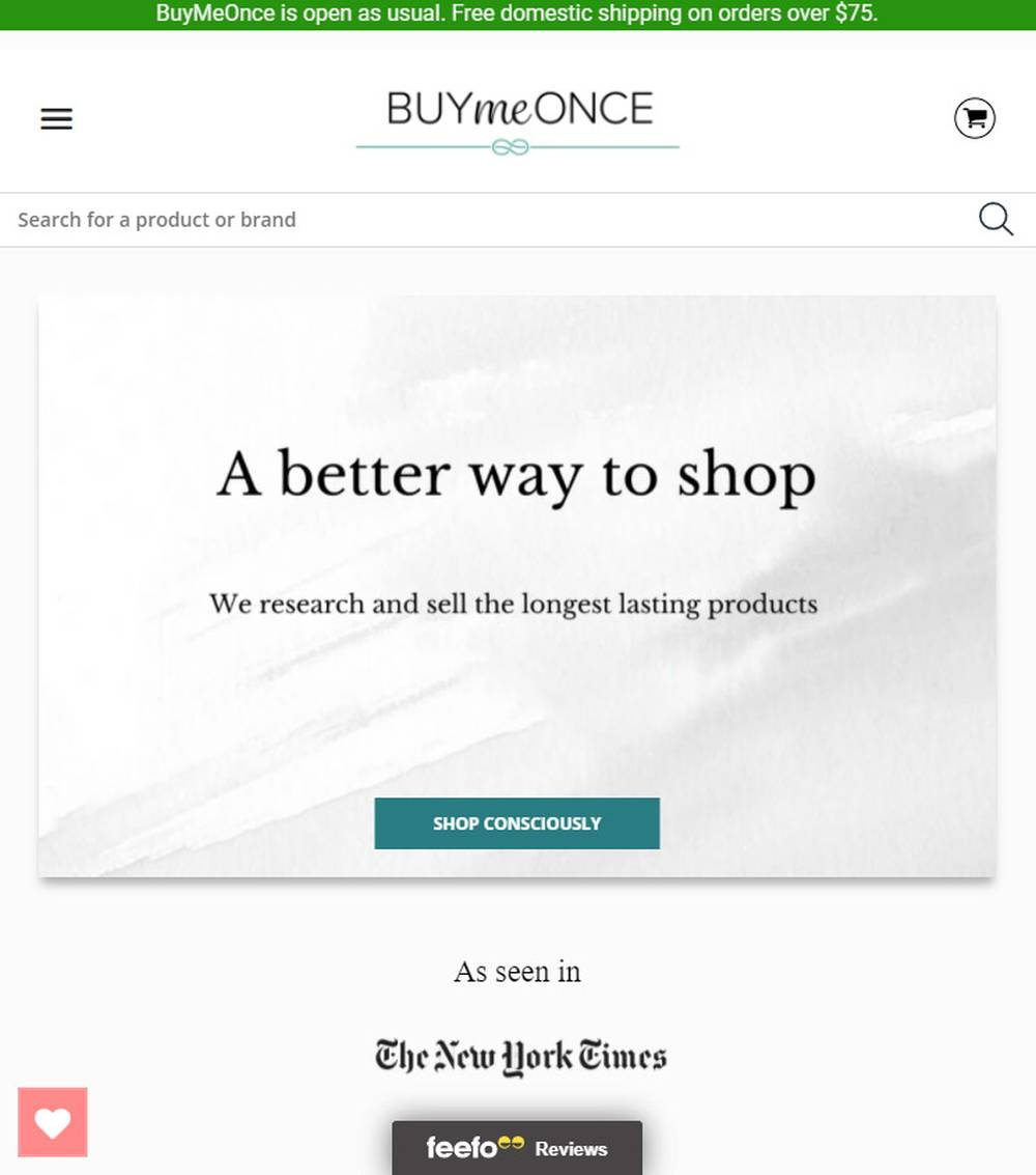 buymeonce ethical fashion store