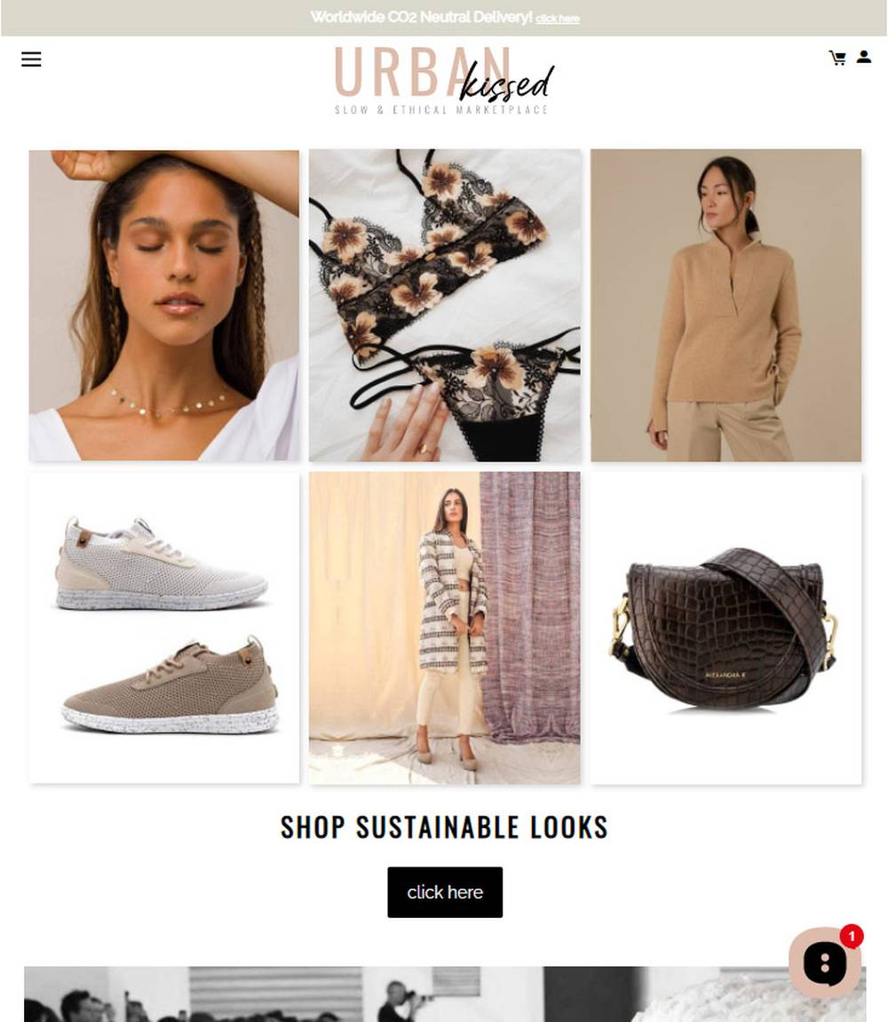 urban kissed ethical fashion shop