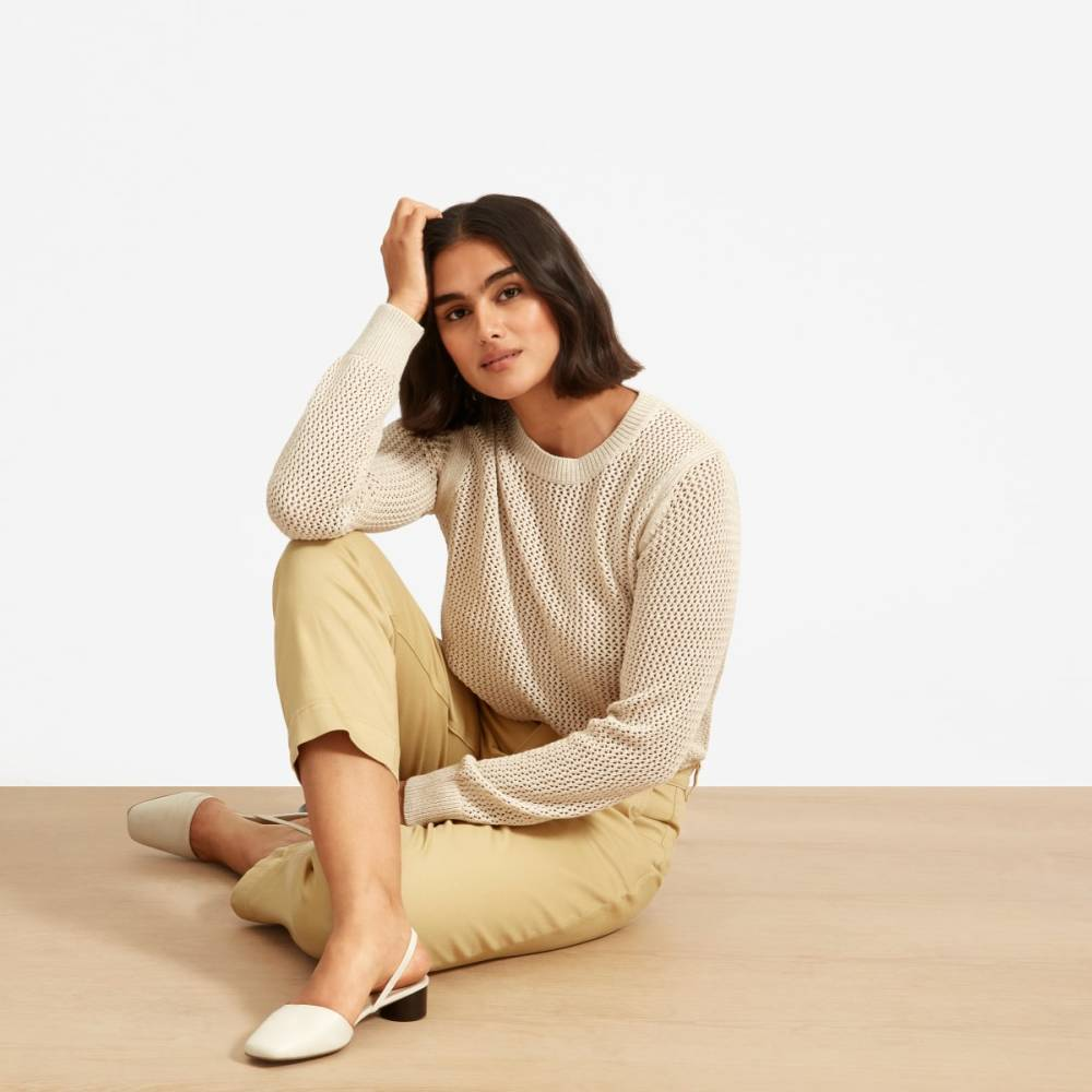 everlane sustainable organic cotton sweatshirt