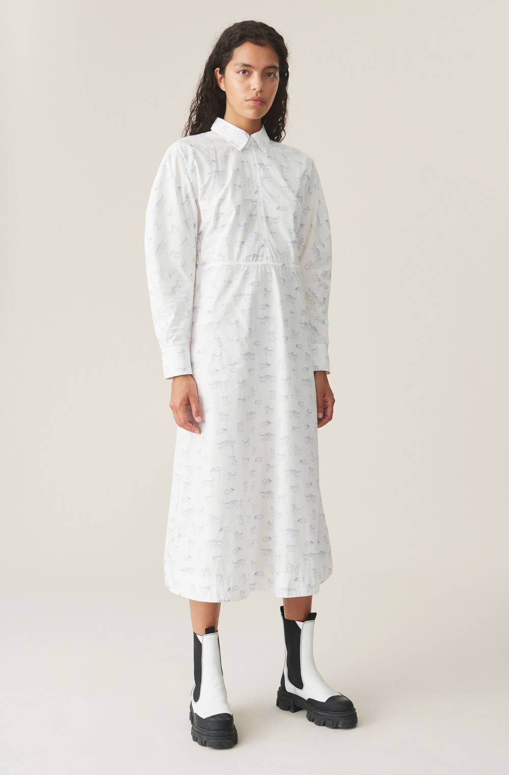 ganni sustainable dress