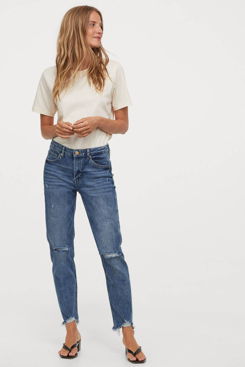 h&m recycled cotton denim jeans