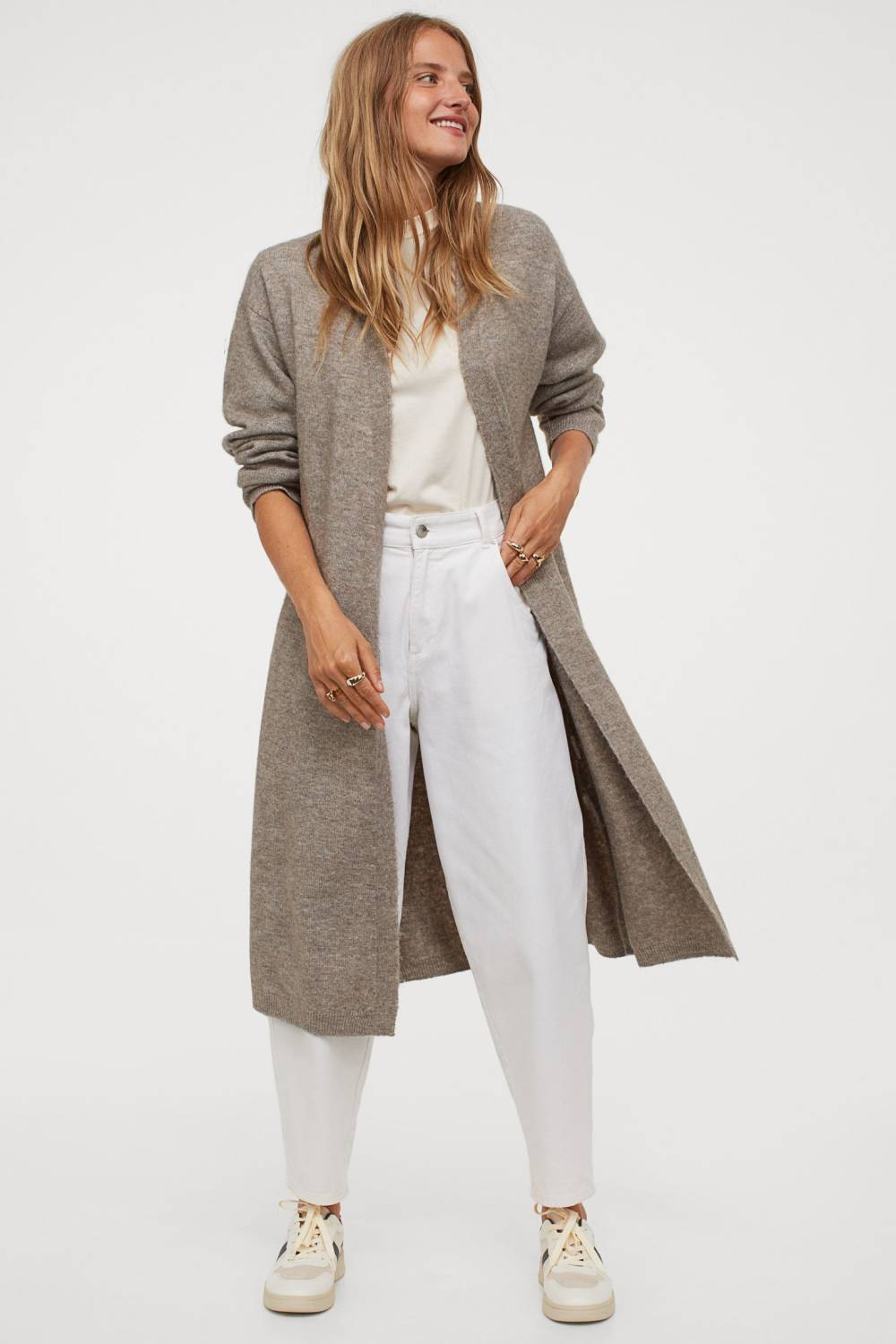 h&m recycled knit cardigan