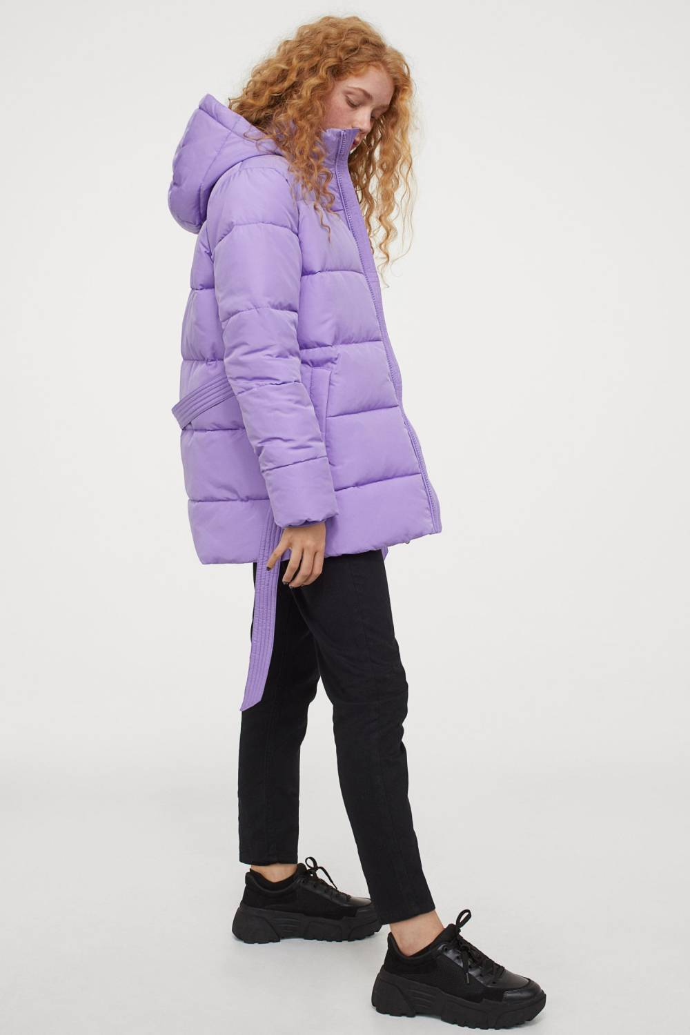 h&m recycled polyester padded jacket