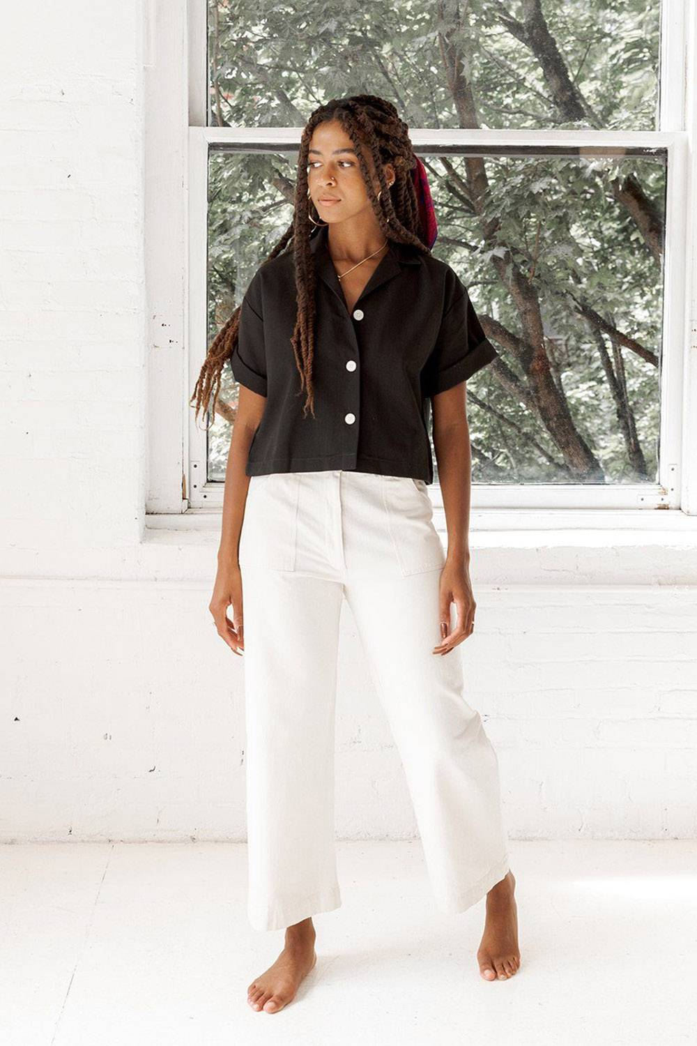 made trade casual white pants