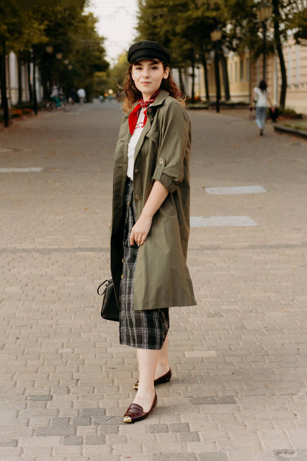 dress 80s normal clothes trench coat
