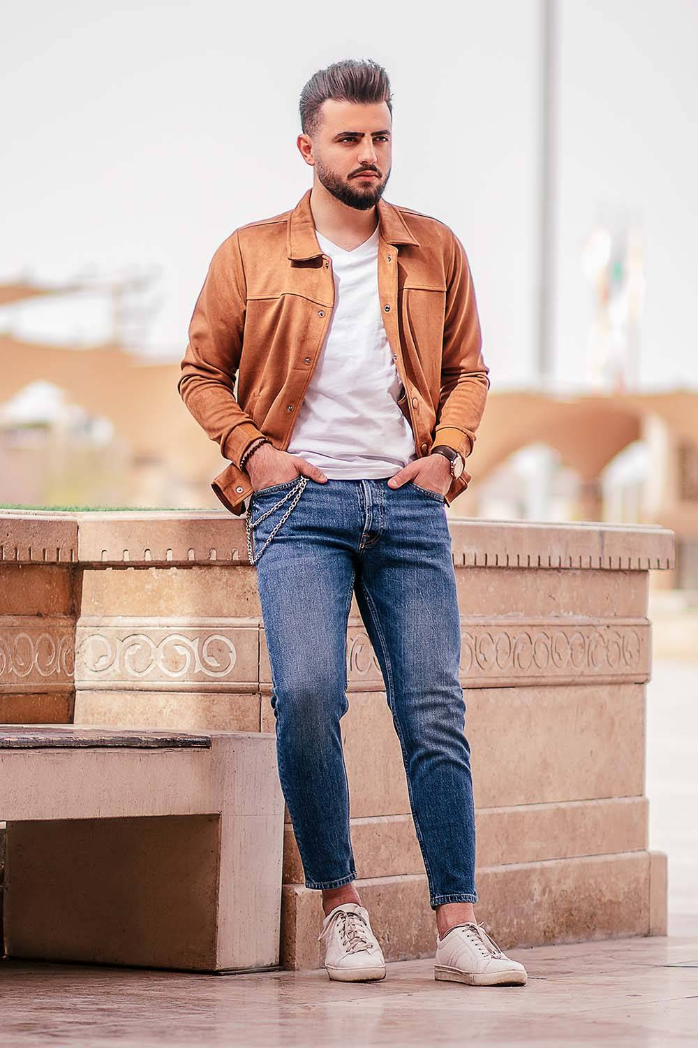 masculine man outfit layers