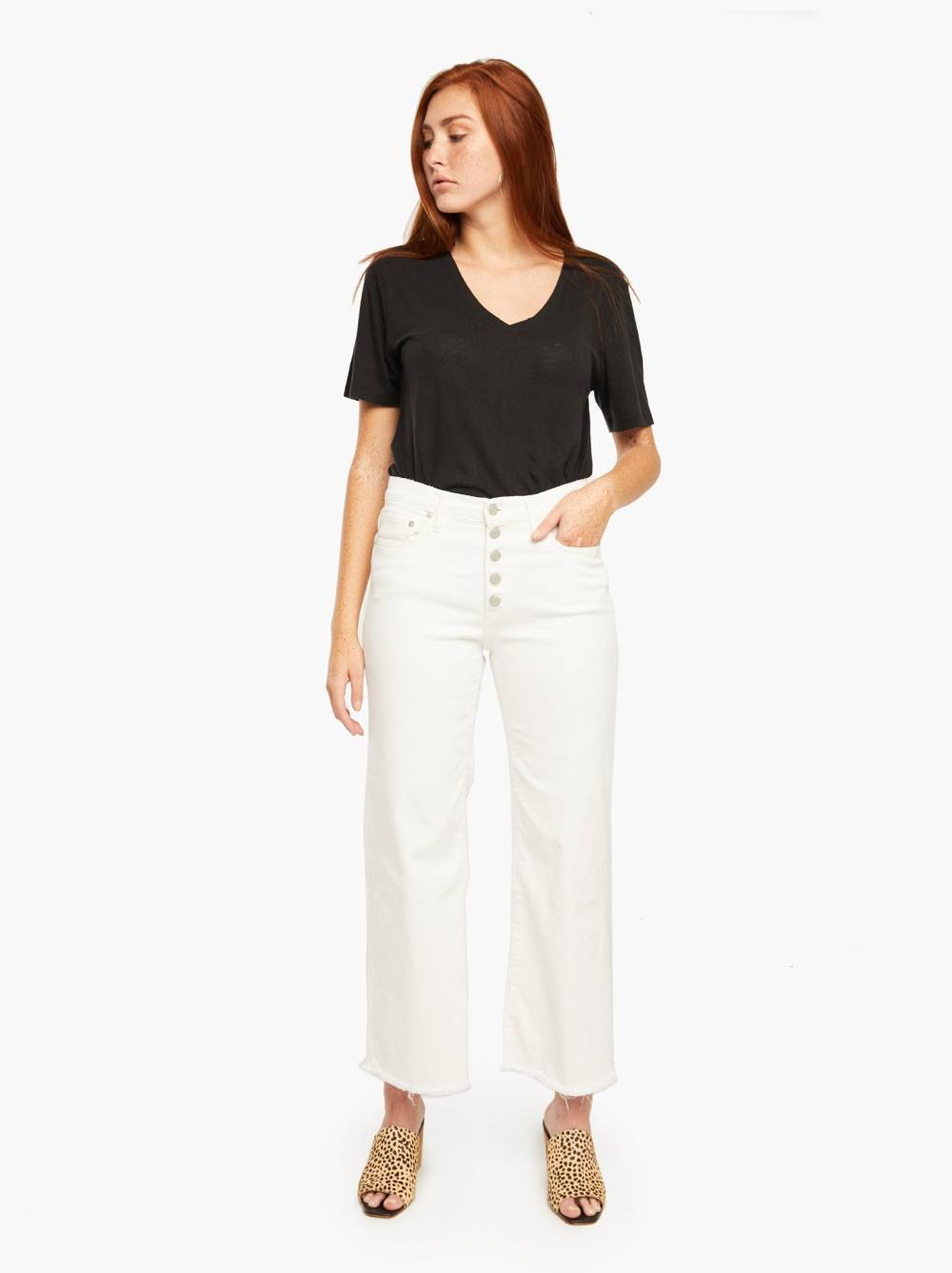 able jeans inverted triangle outfits