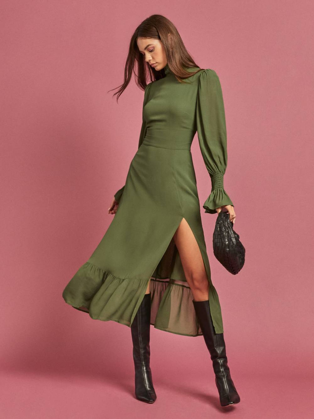 reformation dresses triangle body shapes