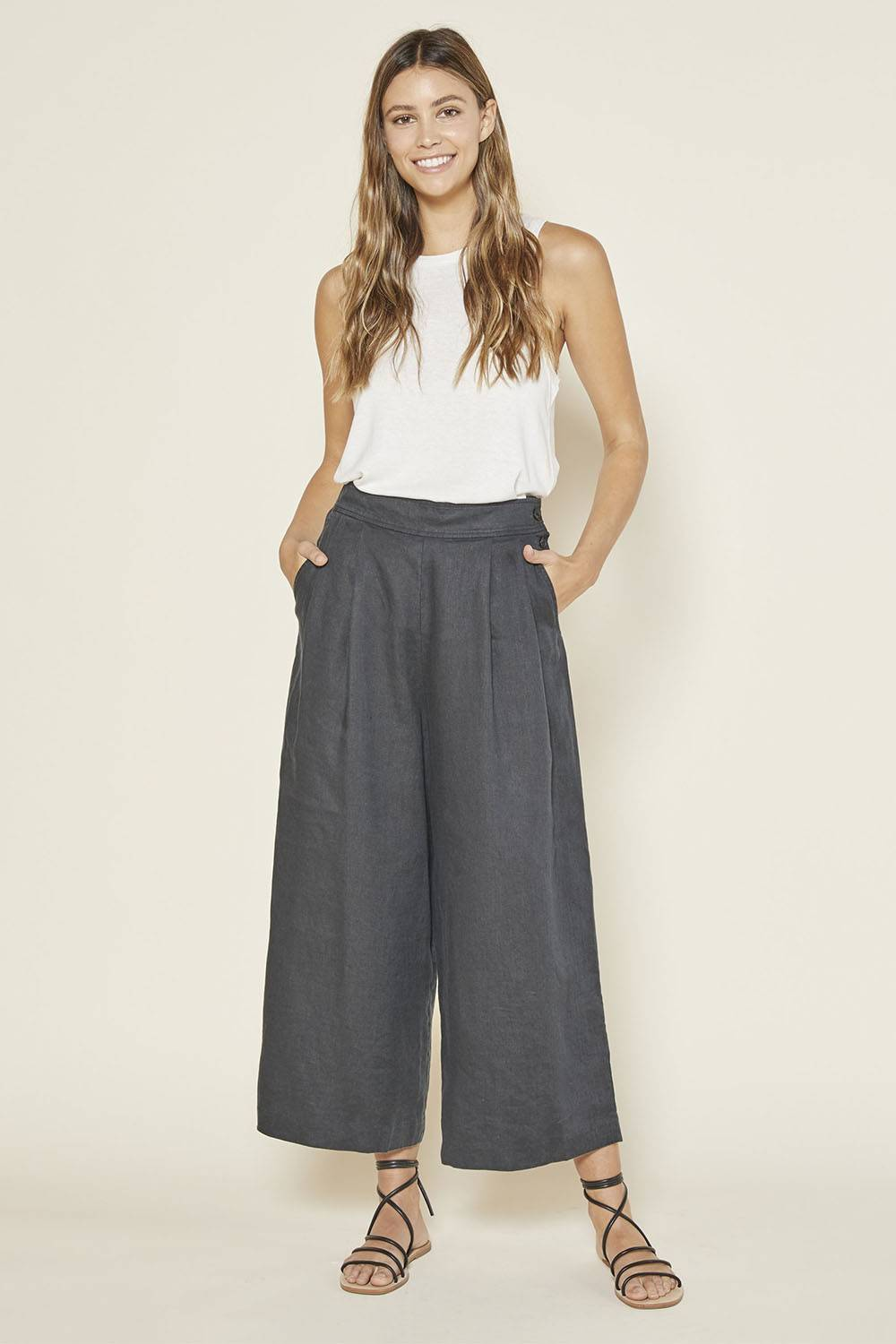 outerknown luxury pure linen pajama