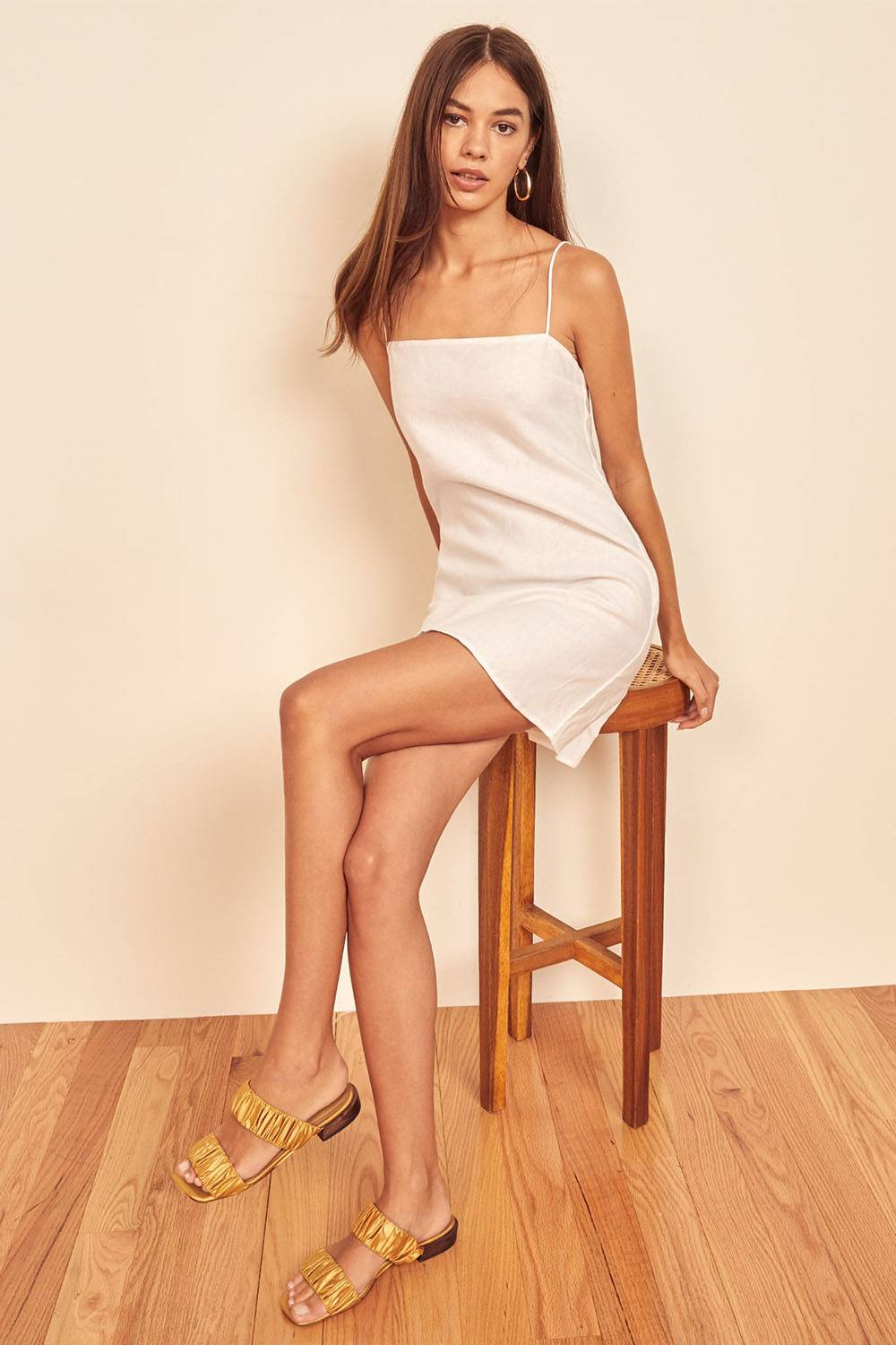 luxury pure linen nightgown reformation
