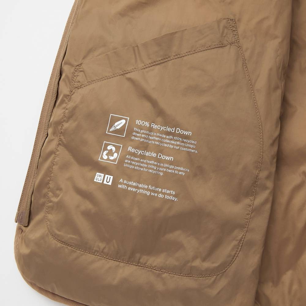 uniqlo recycled down jacket