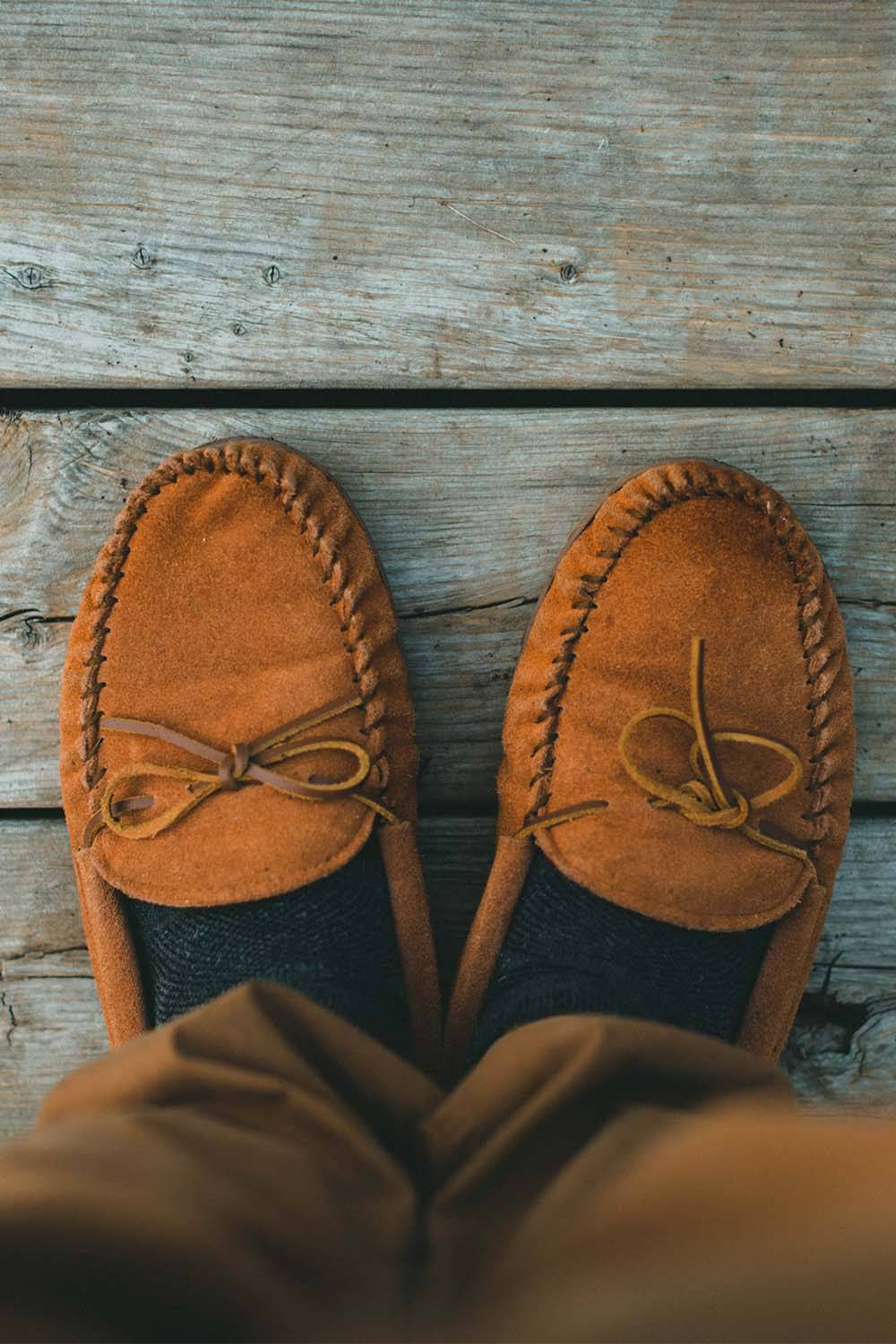 suede fabric leather waterproof shoes