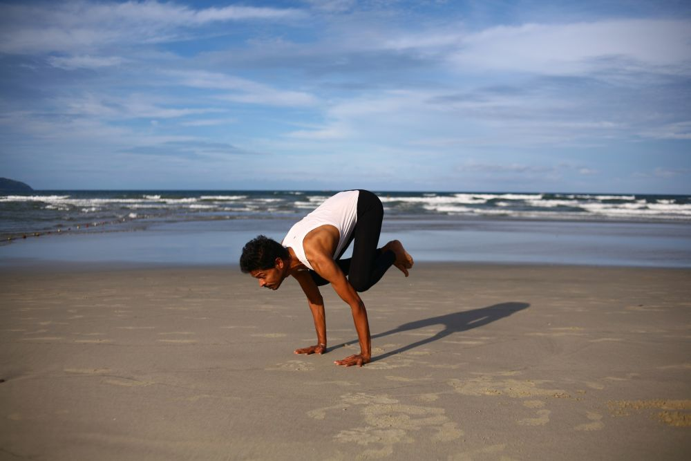 yoga confidence strength crow pose