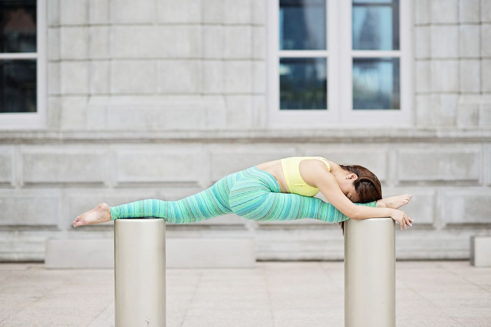 yoga confidence strength split pose