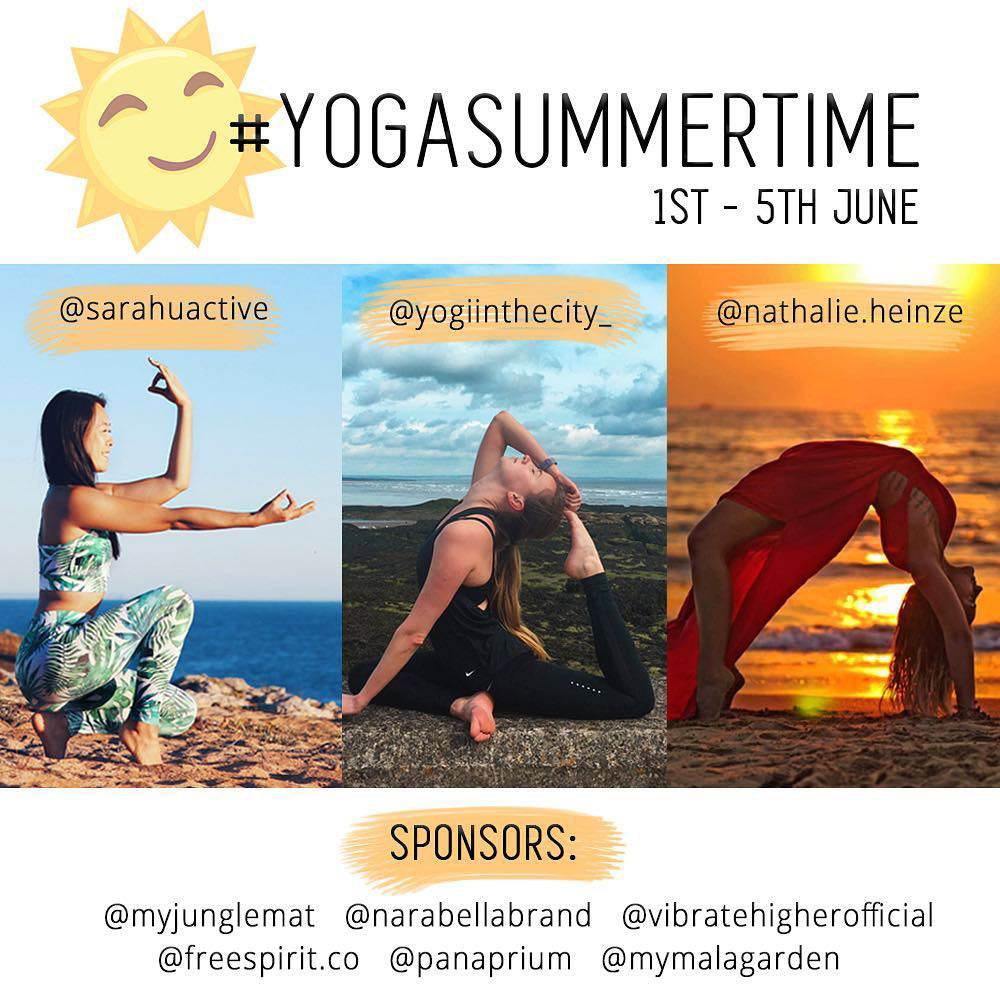 yoga summer time challenge outside
