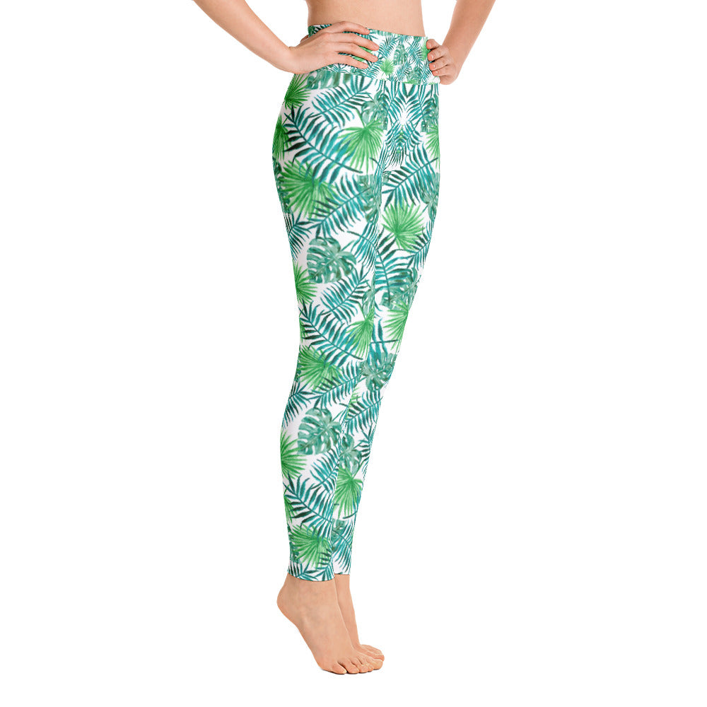 Summer Palm Leaves Leggings