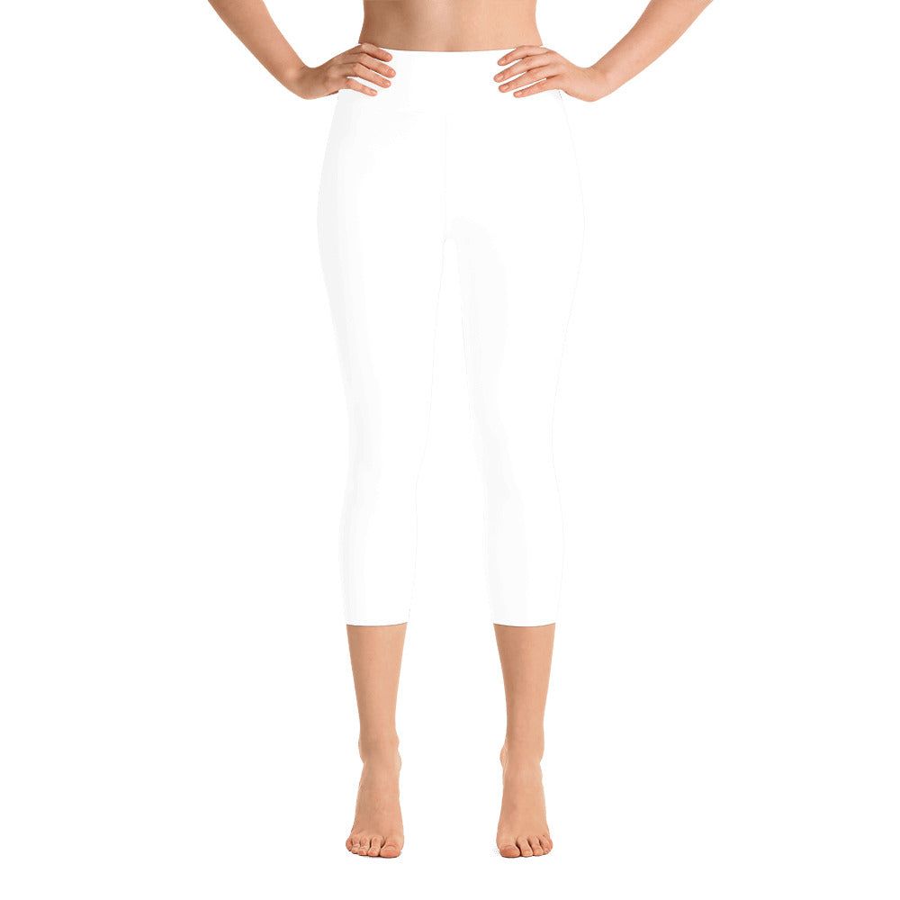 White Capri Leggings