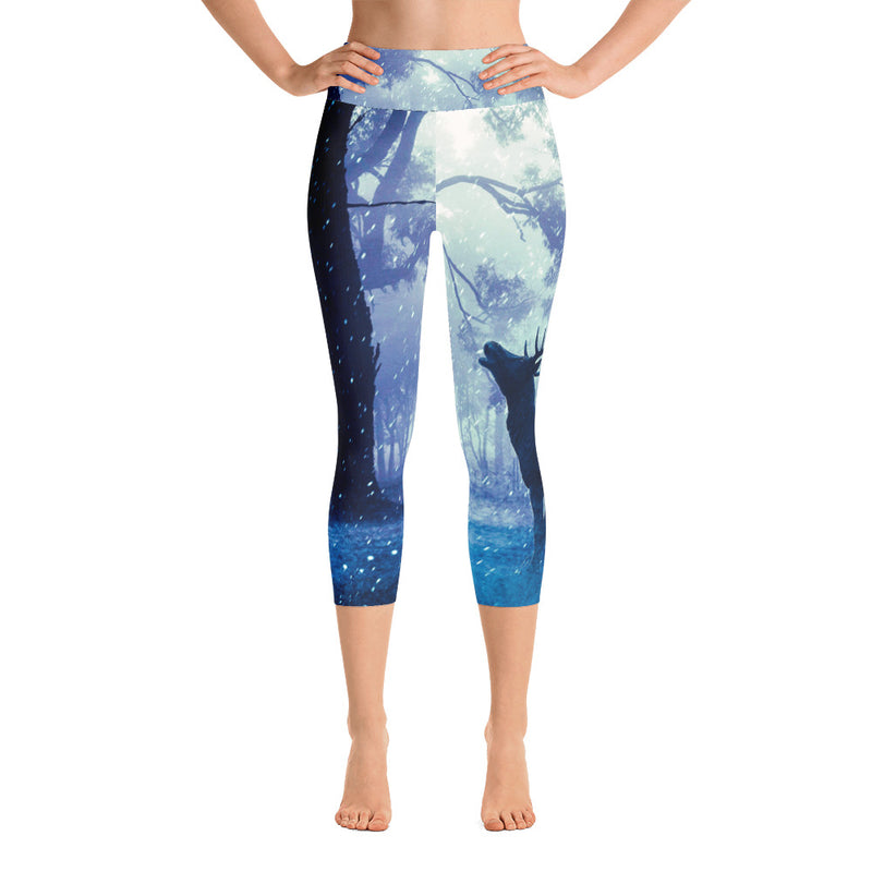 Wild Deer Capri Leggings