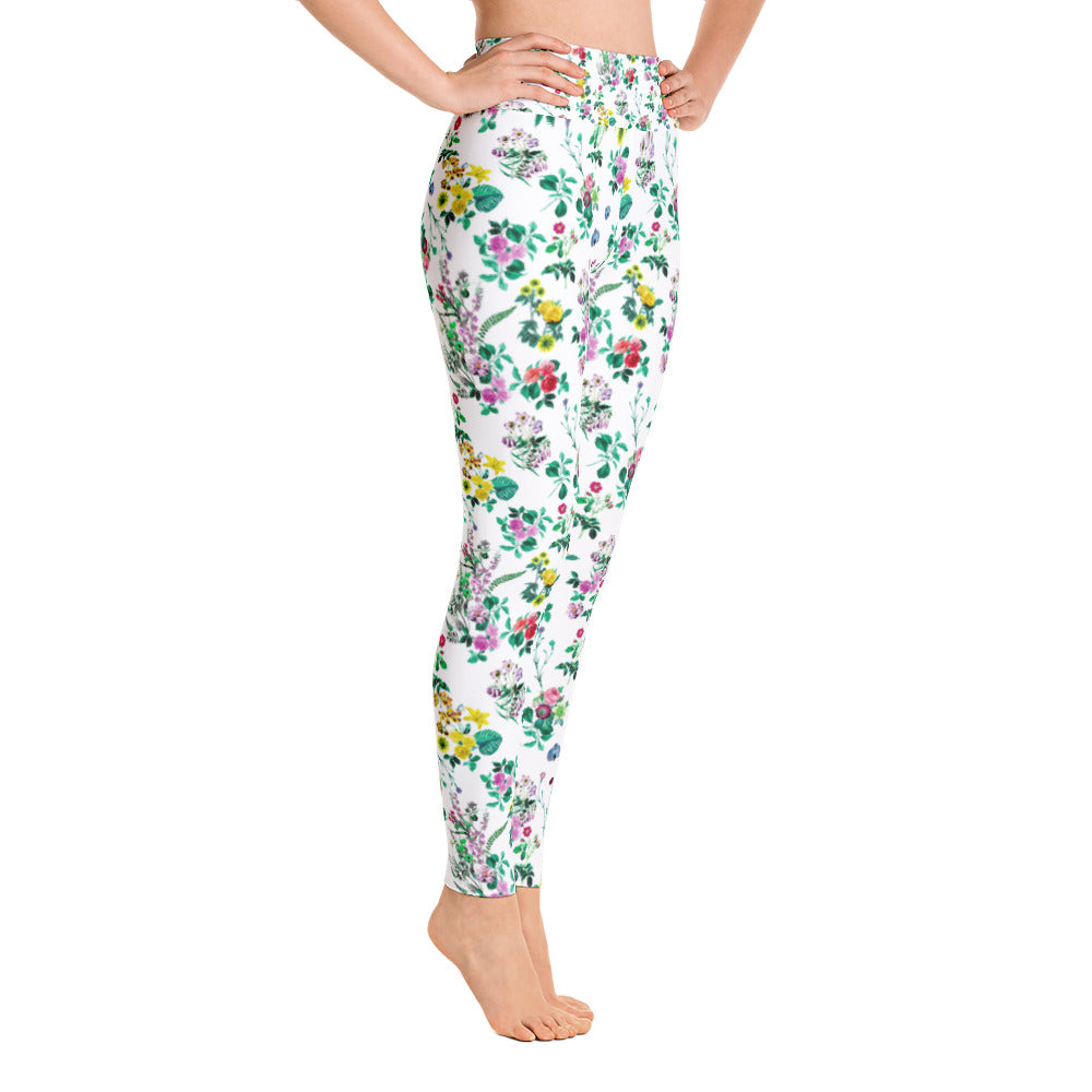 Floral Leaves Leggings