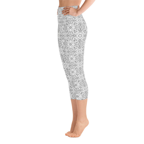 Black White Mandala Capri