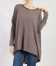 Leather Trim Piko Top