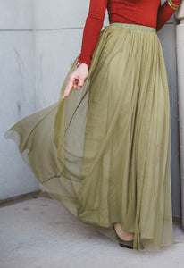 Long Tulle Maxi Skirt