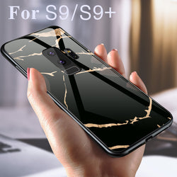 Luxury Marble Grain Hard Phone Case for Samsung Galaxy S9 S9 Plus