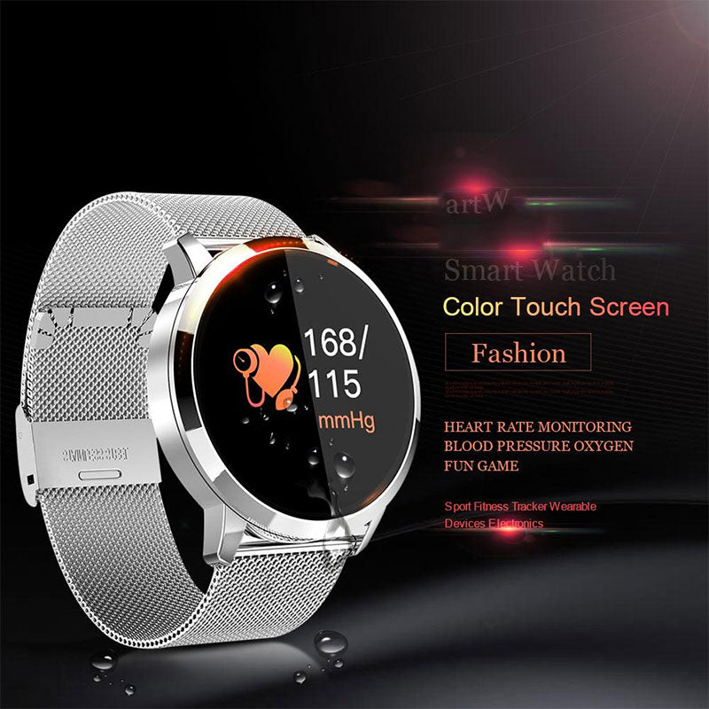 Luxury Heart Rate Blood Pressure Oxygen Monitor Pedometer Smartwatches