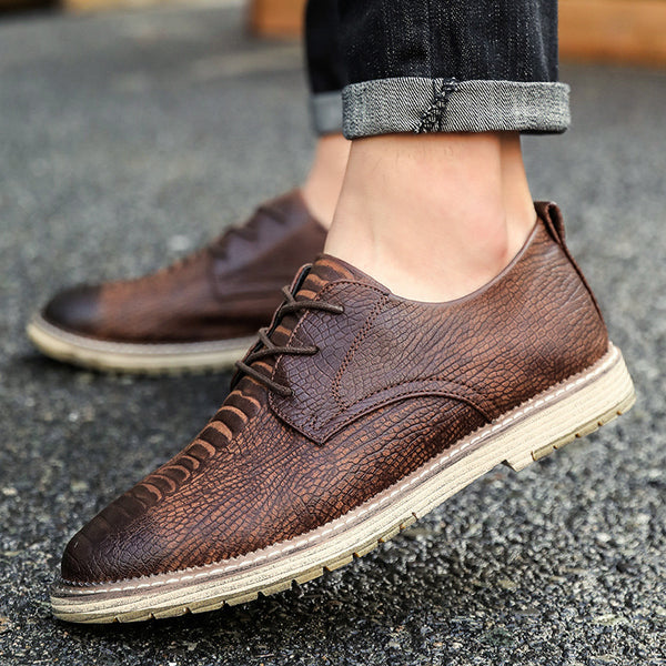 0a73accca5c93 Brand New Men s Business Fashion Crocodile Style Flat Shoes – ONEVYE