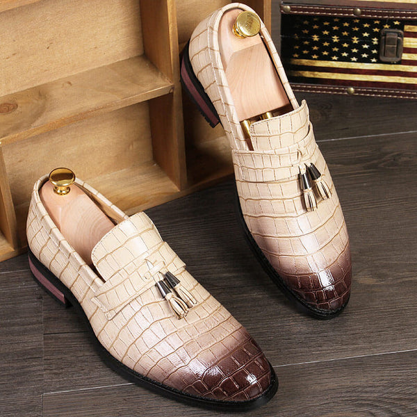 Men Leather Oxfords Dress Shoes Business Drving Formal Shoes