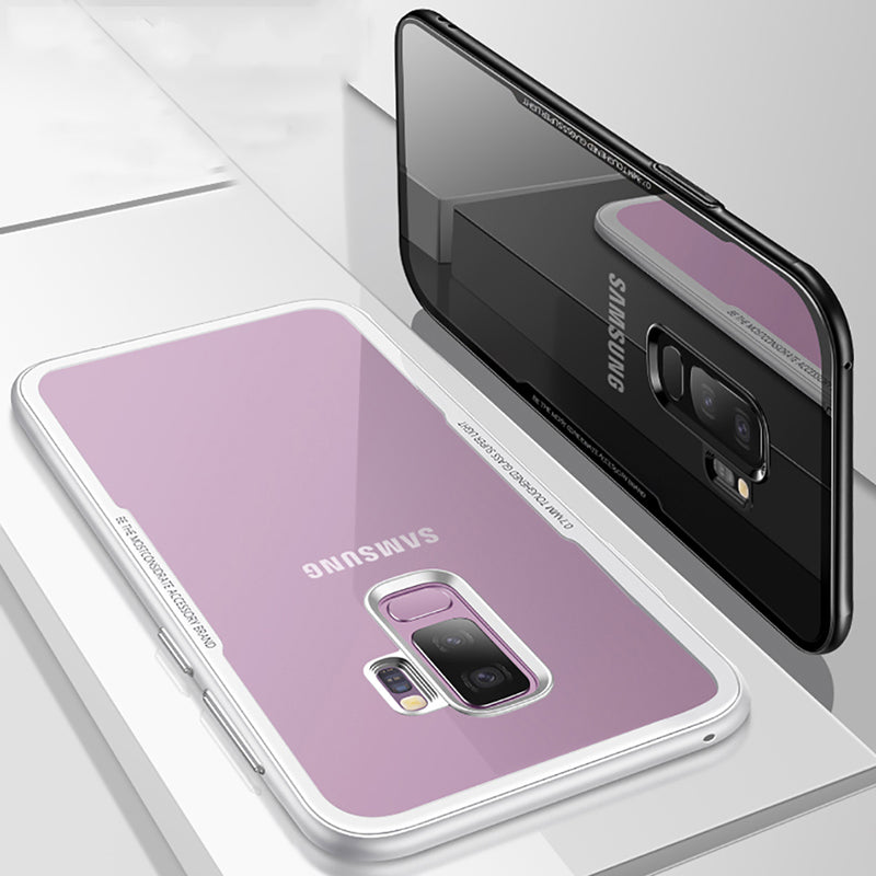 Soft Silicone Ultra Thin Tempered Glass Cases For Samsung Galaxy S9 Plus
