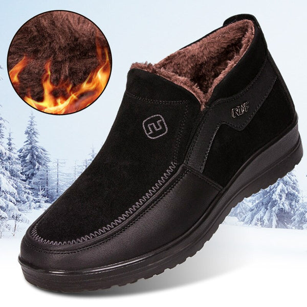 Fashion Men Plus Size Boots Winter Boots with Warm Fur