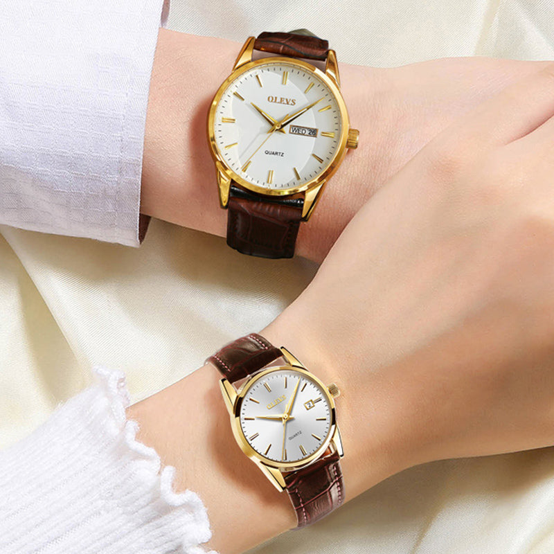 Fashion Waterproof Business Luminous Quartz Wrist Watches for Lovers