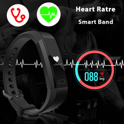 Fitness Tracker Heart Rate Monitor Pedometer Sleep Monitor Band Bracelet