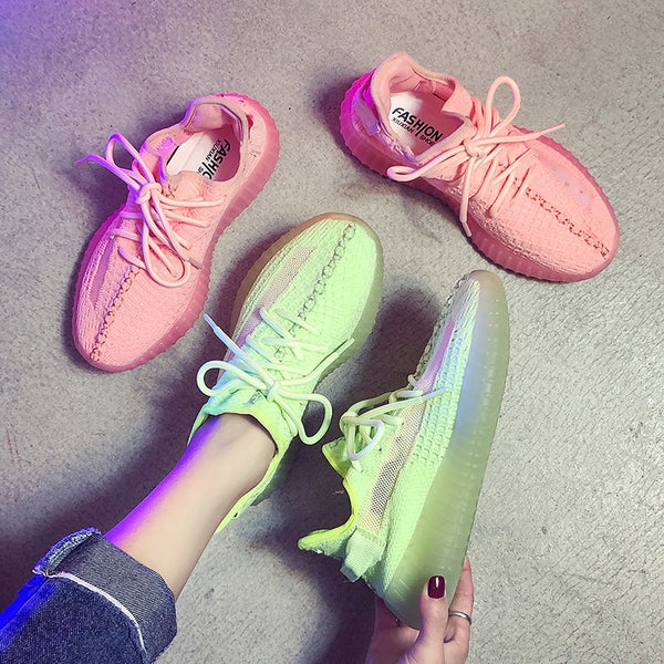 Spring/Summer New Women Breathable Reflective Casual Sneakers