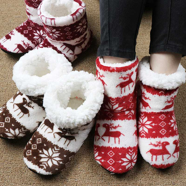 Woman Christmas Indoor Socks Contton Shoes