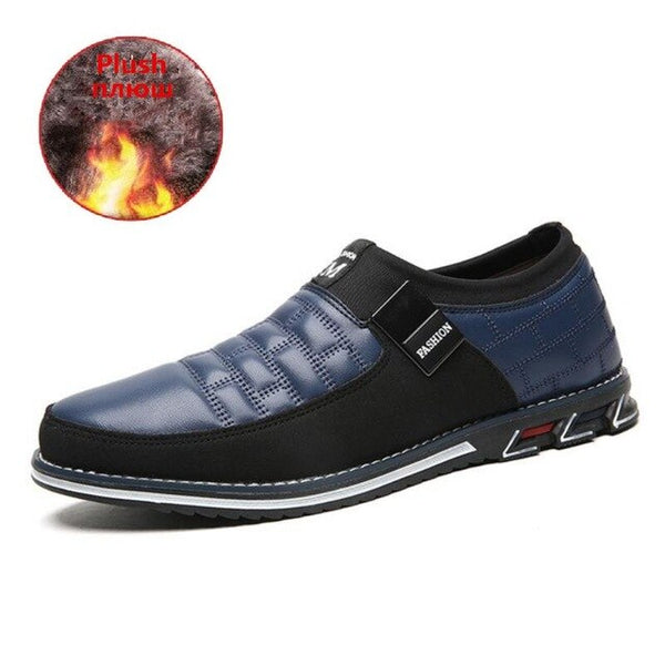 Fashion New Autumn Winter Plush Warmth Casual Leather Shoes