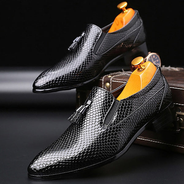 Business Driving Flats Dress shoes Fashion Men's Formal Slip-on