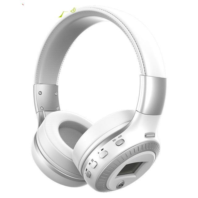 Bluetooth Stereo Headphone with Mic SD Card Slot FM Radio For Phone & PC