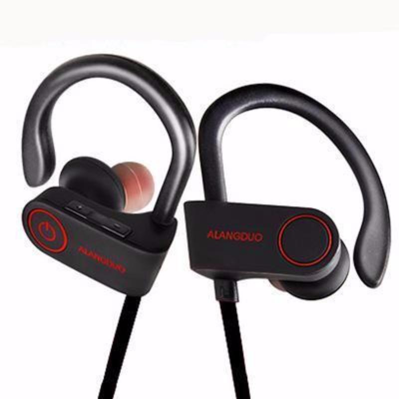 Waterproof Noise Canceling Sport Wireless Bluetooth Earphone Bass With Mic