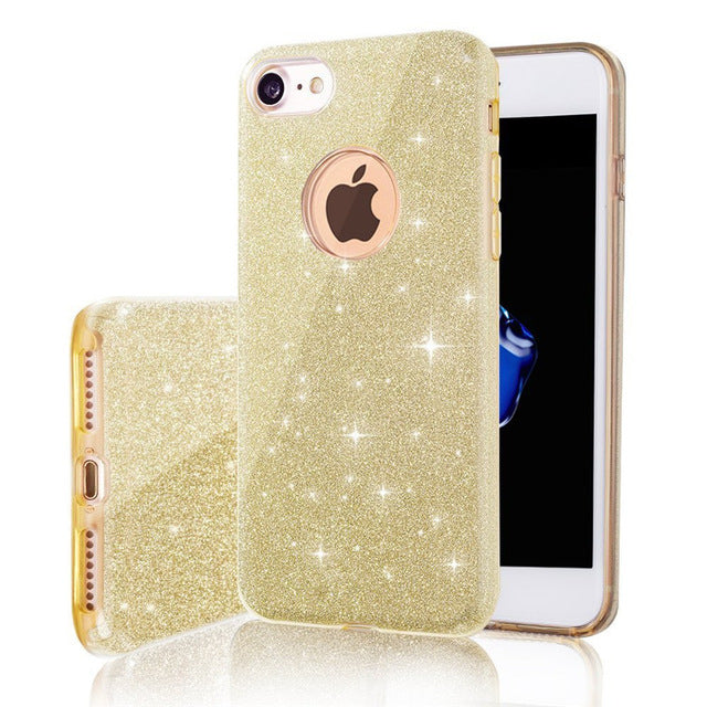 Fashion Bling 3 IN 1 Gradient Glitter Cover for iphone