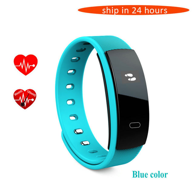 Bluetooth Smart Band With Fitness Tracker Heart Rate and Blood Pressure Sleep Monitoring