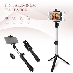Phone Tripod Selfie Stick Bluetooth Foldable Selfie-stick For iPhone Android