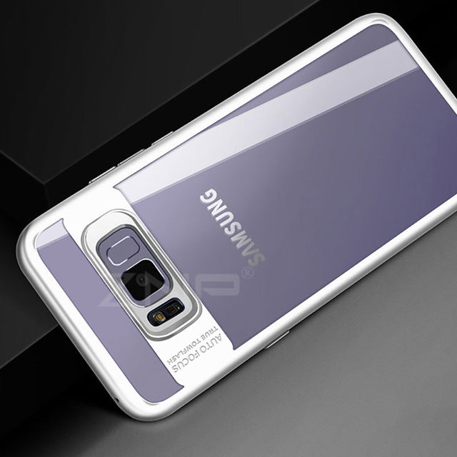 Luxury Silicone Transparent PC & TPU Slim Case for Samsung