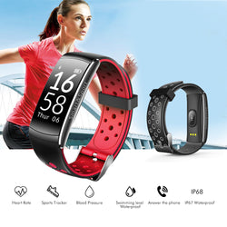 IP67 Waterproof Sport Blood Pressure Heart Rate Monitor Bluetooth Smartwatch