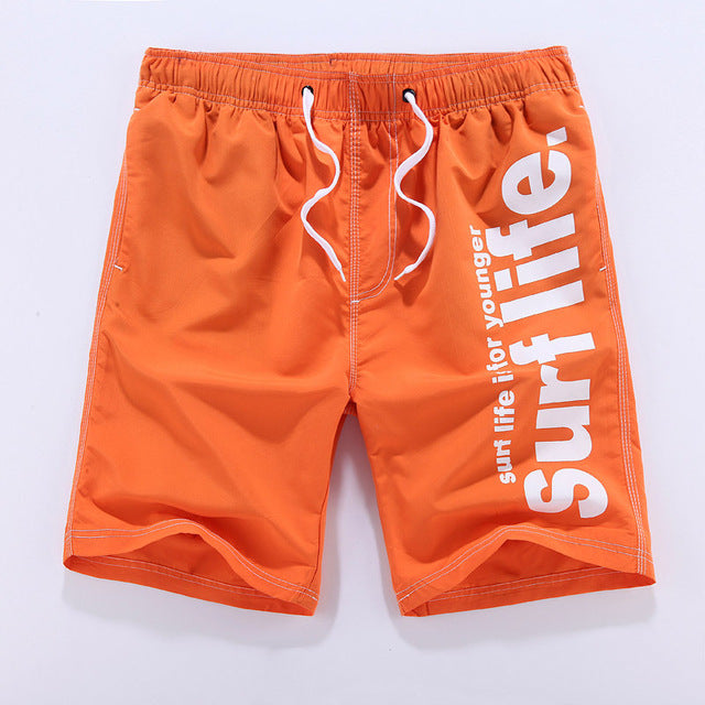 Fashion Summer Men's  Plus Size Loose Elastic Beach Shorts